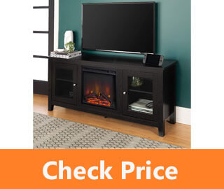 WE Furniture Traditional Wood Fireplace Stand review