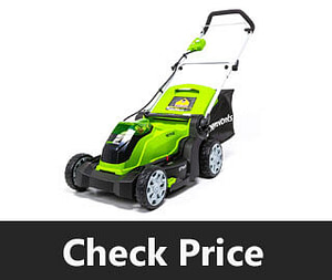 Green works 17 Inch 40V Cordless Lawn Mower review