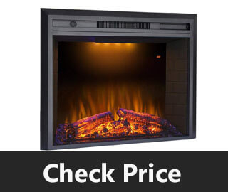 Valuxhome Electric Fireplace Recessed Fireplace