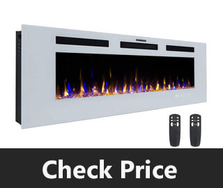 3GPlus 50 Electric Fireplace Wall Recessed Heater