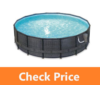 Summer Waves Elite 16ft x 48in Above Ground Frame Outdoor Swimming Pool